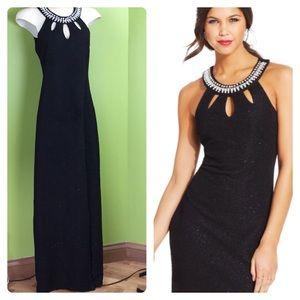 Teeze Me black textured formal. Embellished.